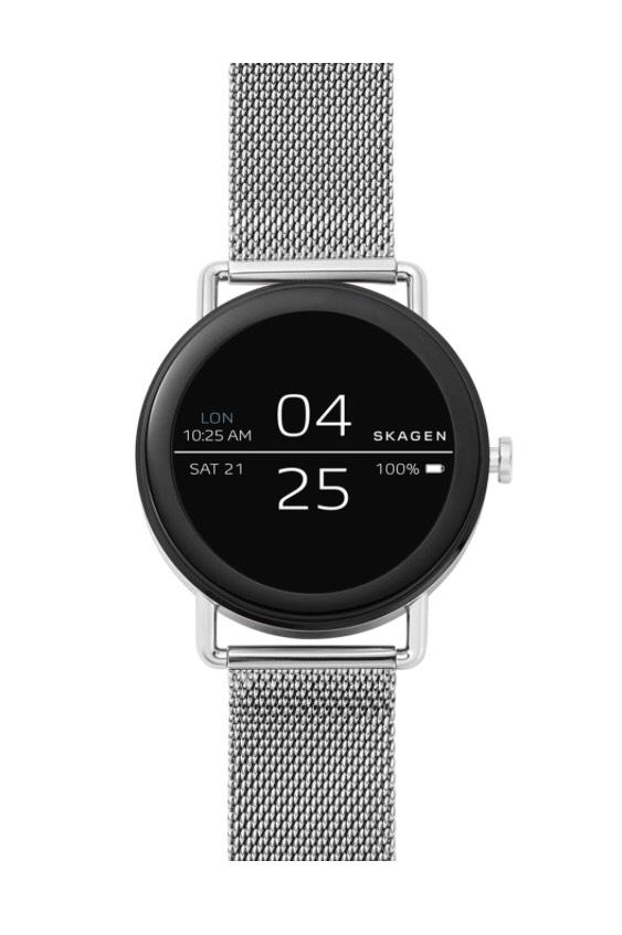 Skagen Connected Smartwatch Falster / Minimalistische Smartwatch Edelstahl / Android Wear / iOS und Android kompatibel