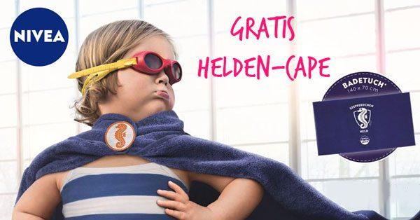 Nivea -  Heldencape 2018 Nivea für 9 Euro kaufen Heldentuch / Badetuch Gratis dazu