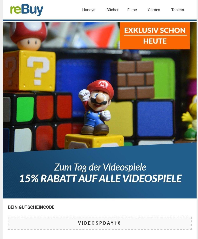 -15% auf Videospiele bei reBuy
