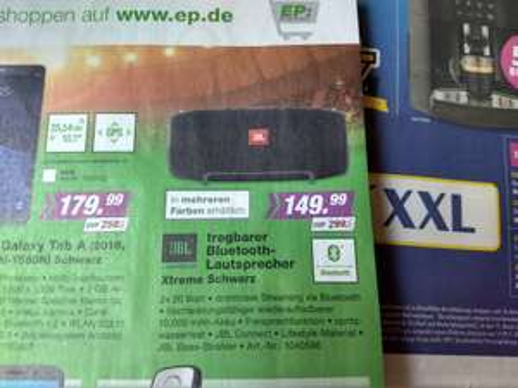 [lokal EP Sangerhausen] JBL Xtreme (mehrere Farben) - Bluetooth Lautsprecher