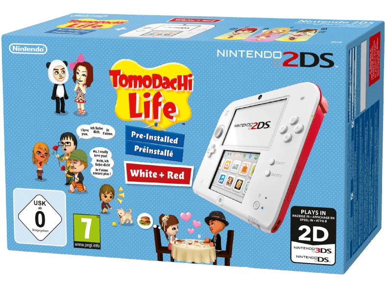 [Mediamarkt] NINTENDO 2DS Rot/Weiß + Tomodachi Life für 70,-€ oder für 55,-€ als Ebay Plusmitglied