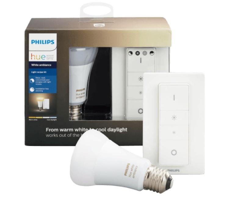 PHILIPS Hue E27 Light Recipe Kit Innenbeleuchtung warmweiß / kaltweiß - Mit Fernbedienung