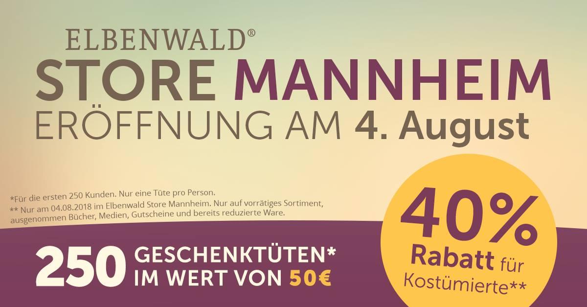 [Lokal Mannheim] Elbenwald 40% Rabatt für Kostümierte Besucher / 250 Freebies