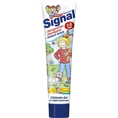 Signal Milchzahn-Gel Zahnpasta, 3er Pack [Amazon Prime] [Plusprodukt]