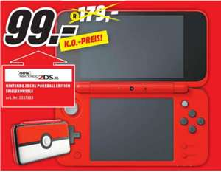 [Regional Mediamarkt Weiden] Nintendo New 2DS XL Pokéball Edition für 99,-€