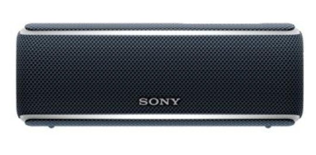 Sony SRS-XB21 kabelloser Bluetooth Lautsprecher (tragbarer, Farbige Lichtleiste, Extra Bass, NFC, Wasserabweisend) Schwarz [Amazon]