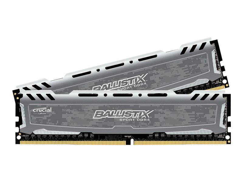 Crucial Ballistix Sport LT grau DIMM Kit 16GB, DDR4-2400, CL16