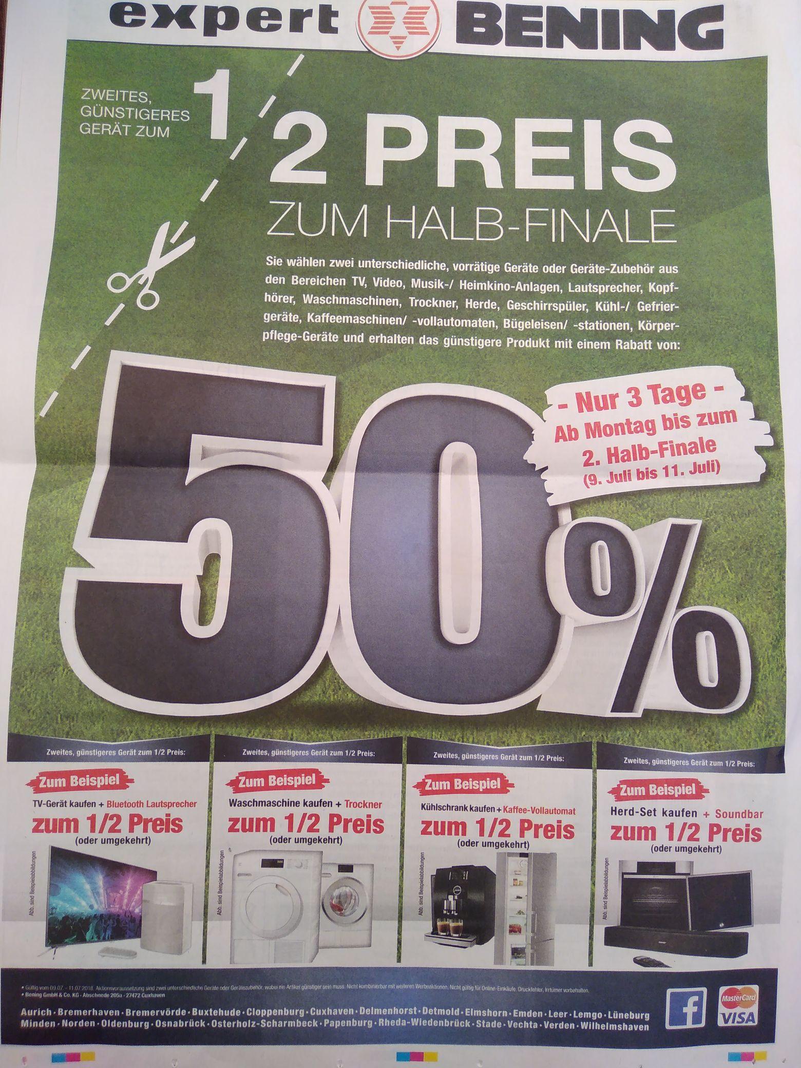 """[Regional Expert Bening] Aktion"""" zweites, günstigeres Gerät zum 1/2 Preis"""" = bis zu 25% Rabatt"""