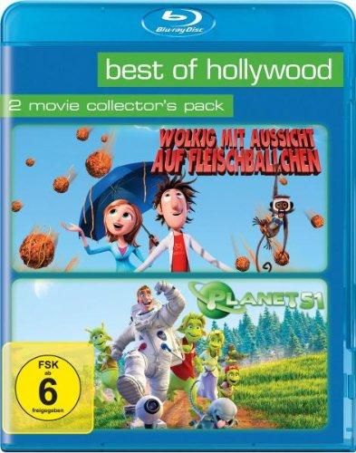 Wolkig mit Aussicht auf Fleischbällchen & Planet 51 Best of Hollywood Collection (2 Disc Blu-ray) für 9€ (Amazon Prime)