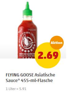 (Offline) Flying Goose Chilisauce - verschiedene Sorten - ab Montag für 2,69 € bei Penny