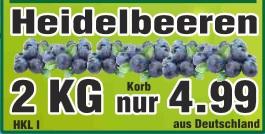 [Wiglo][Niedersachsen] 2kg Blaubeeren, Hkl. 1 für 4,99€