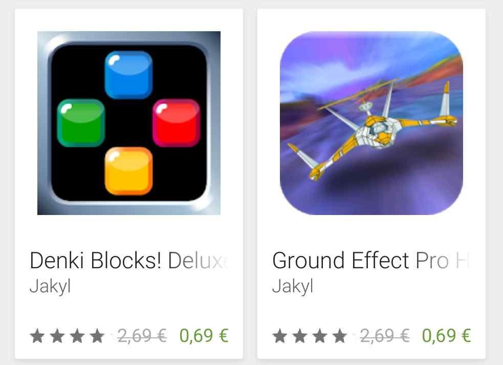 [Google Playstore] 4 x verschiedene Android Apps/Spiele von Jakyl. Mixt, Ground Effect Pro HD, Denki Blocks! Deluxe und Hard Lines, jeweils 0.69€ anstatt 2.69€.