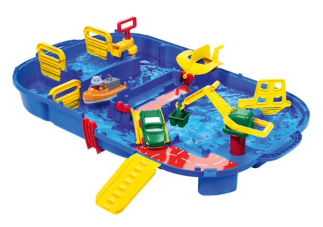 Aquaplay Wasserbahn Wasserschleuse Set Lockbox , 27-teilig