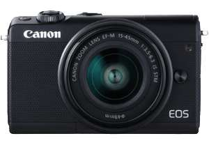 Canon EOS M100 Kit 15-45 mm schwarz + 50€ Cashback (24.2 Megapixel, Full HD, WLAN, Touchscreen, NFC)