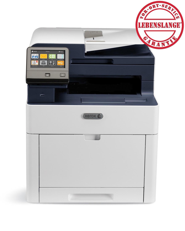 4-in-1-Farblaserdrucker Xerox WorkCentre 6515DNI (28 S/min Farbe und s/w, 300 Blatt, Duplex, Touchscreen, LAN, WLAN, NFC, AirPrint, Cloud Print, Mopria)