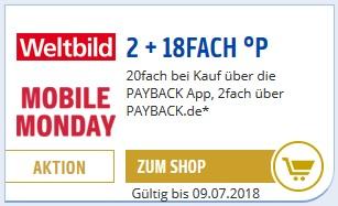 [Weltbild.de] Nur heute 20 Fach Payback Punkte über die Payback APP