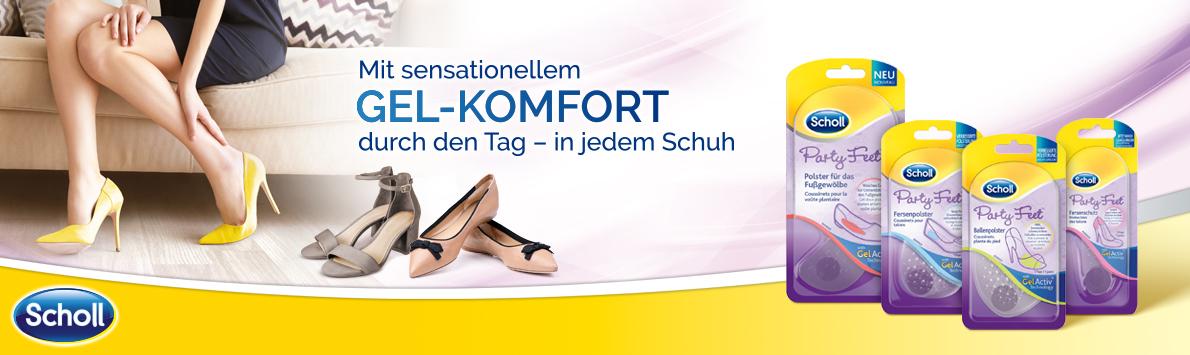 Scholl Party Feet™ Einlagen mit GelActiv® Technologie mit der Geld-zurück-Garantie