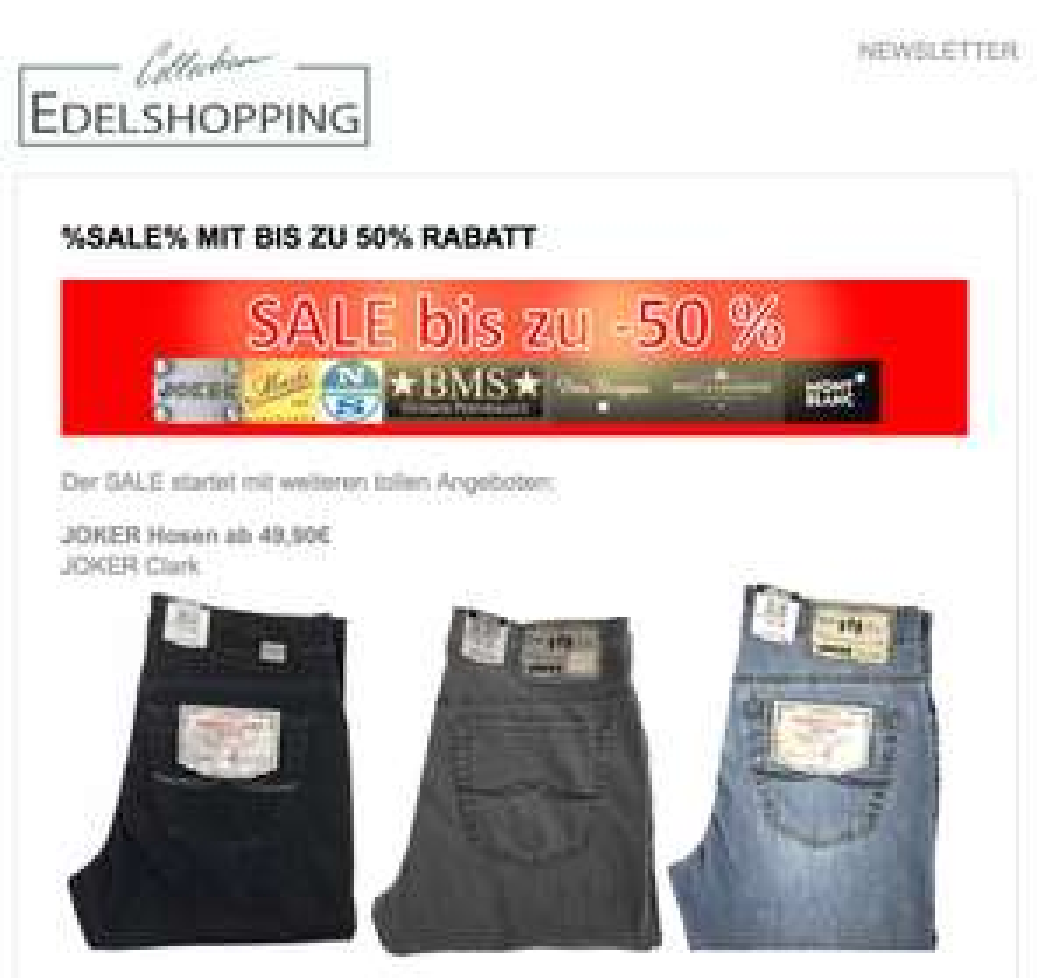 10% Extra-Rabatt auch auf Sale-Artikel
