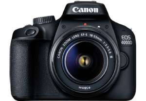DSLR  Canon EOS 4000D Kit 18-55mm III (18 Megapixel, Full HD, WLAN)