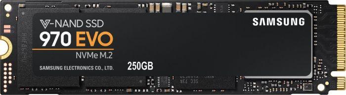 Samsung SSD 970 Evo 250GB (M.2-NVMe) für 84,99€ [Amazon]