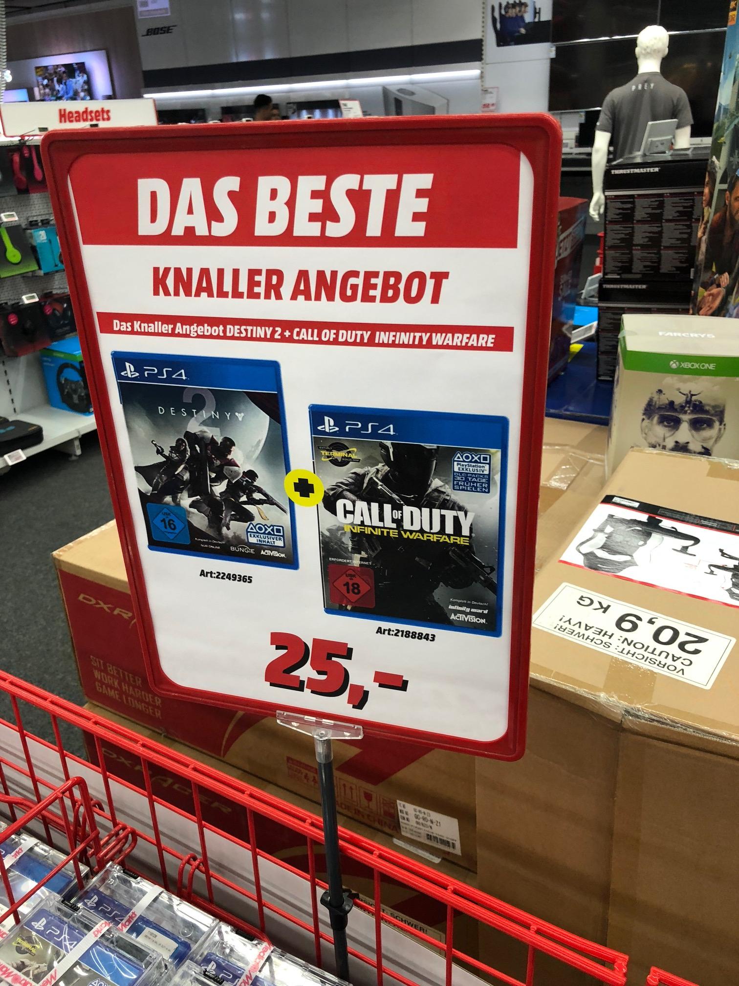 Media Markt / Düsseldorf Arcaden / Grabbeltisch Sammeldeal / LOKAL / Destiny 2 - PC 7€ / Fallout 4 - PC 7€ und viele mehr