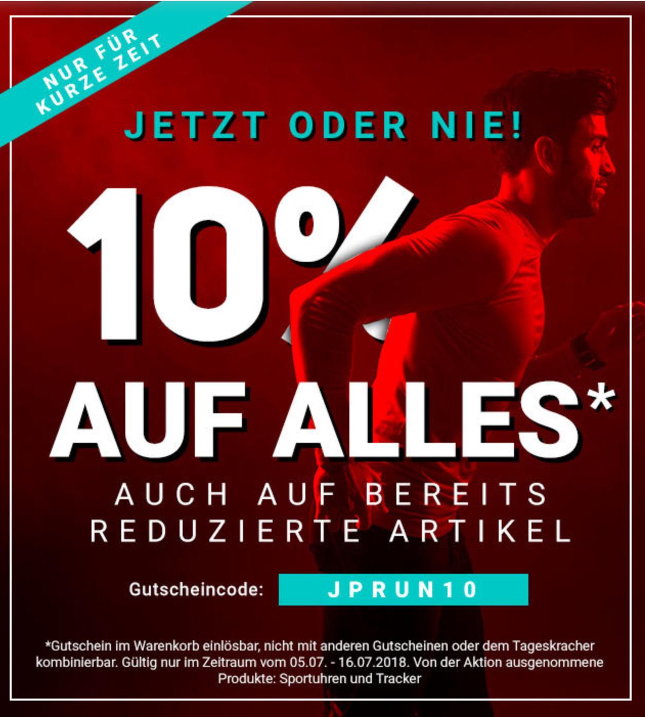 Jogging Point: 10% Rabatt auf ALLES inkl. Sale