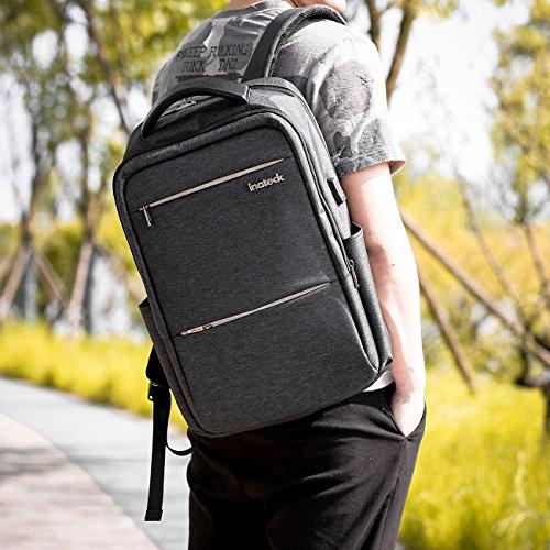 """Inateck 15,6"""" Laptop-Rucksack mit Diebstahlsicherung, USB-Ladeschnittstelle + Regenschutzhülle [Prime]"""