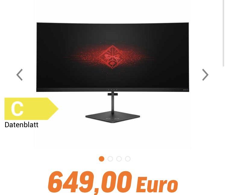"HP Omen X 35"" WQHD 21:9 Monitor"