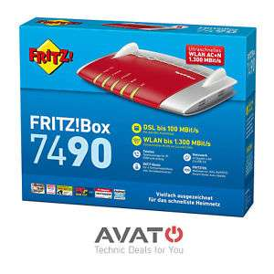 AVM FRITZBox 7490 VDSL DSL Modem ISDN 4-Port Gigabit *24M Gewährl.* refurbished,