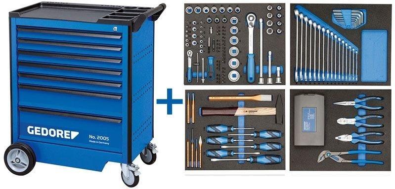 GEDORE Werkstattwagen Workster mit 147-teiligem Werkzeug-Sortiment [ebay]