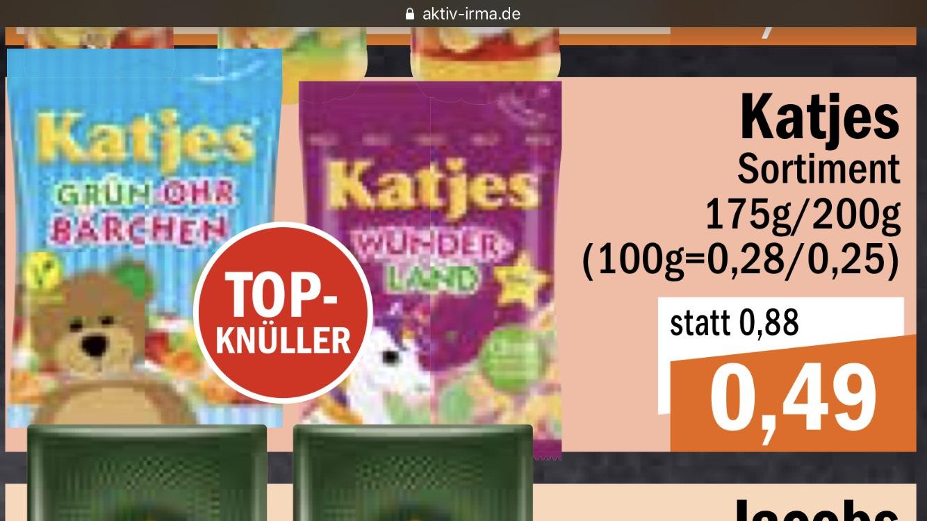 Katjes (verschiedene Sorten) 0,49 €, lokal Oldenburg