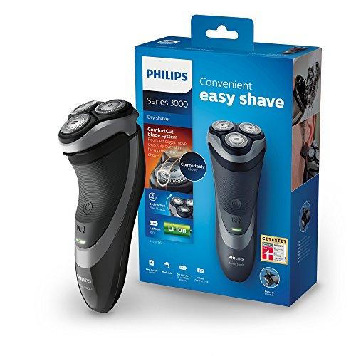 [Amazon oder MM] Philips Elektrischer Trockenrasierer Series 3000 mit ComfortCut-Klingen S3510/06, Präzisionstrimmer