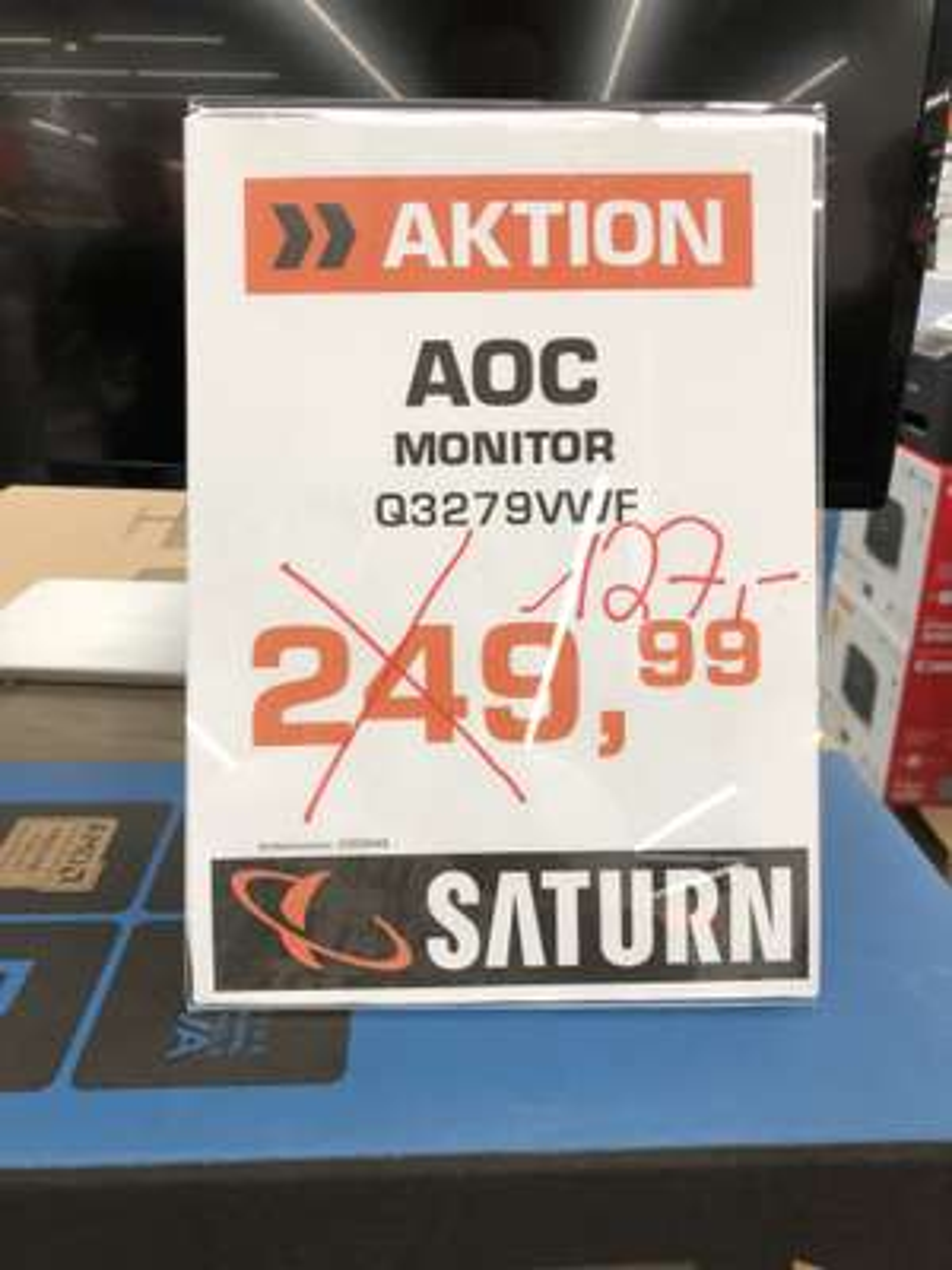 (LOKAL) AOC  32 Zoll LED WQHD MONITOR Q3279VWF (Saturn Aachen)