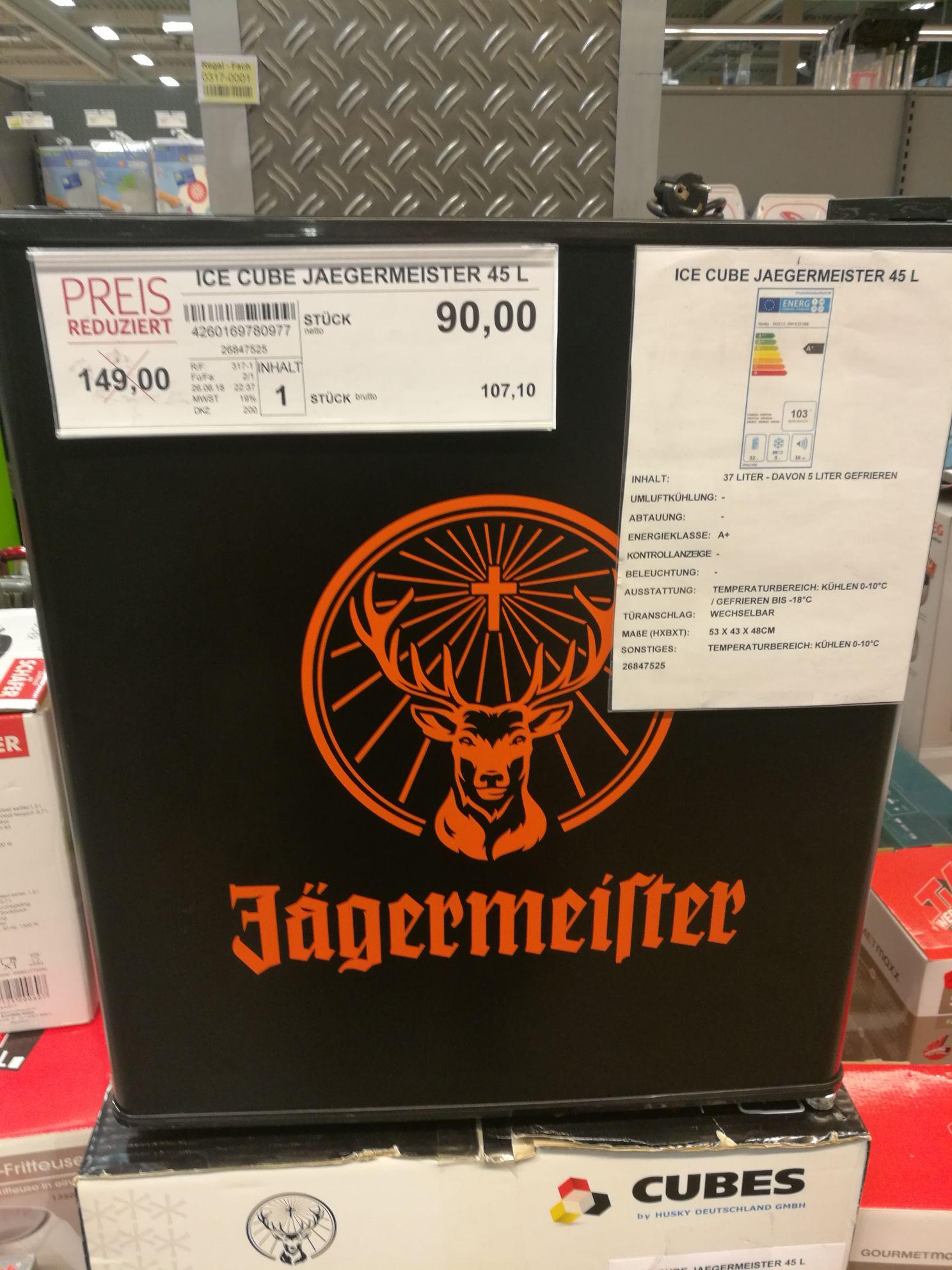 Jägermeister 45l Kühlschrank @Selgros Mannheim