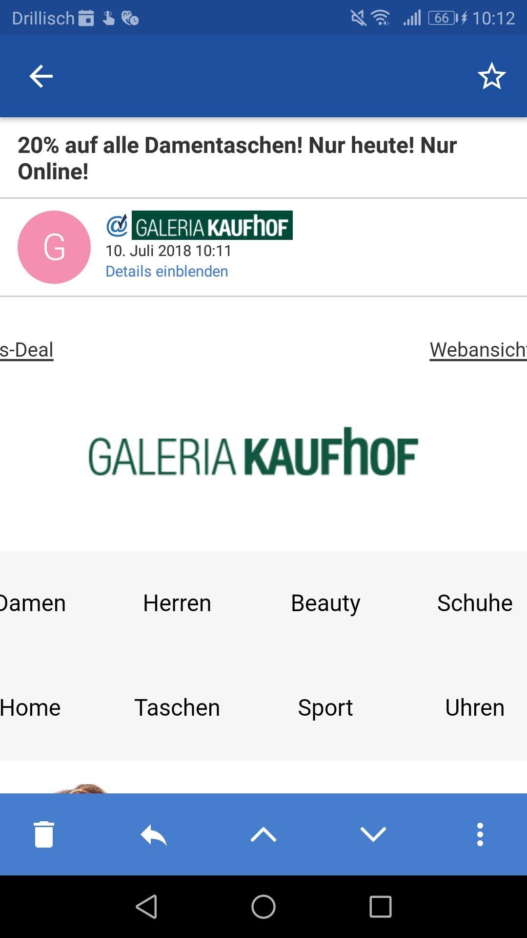 [Galeria Kaufhof] Tagesdeal - 20% auf ausgewählte Damentaschen