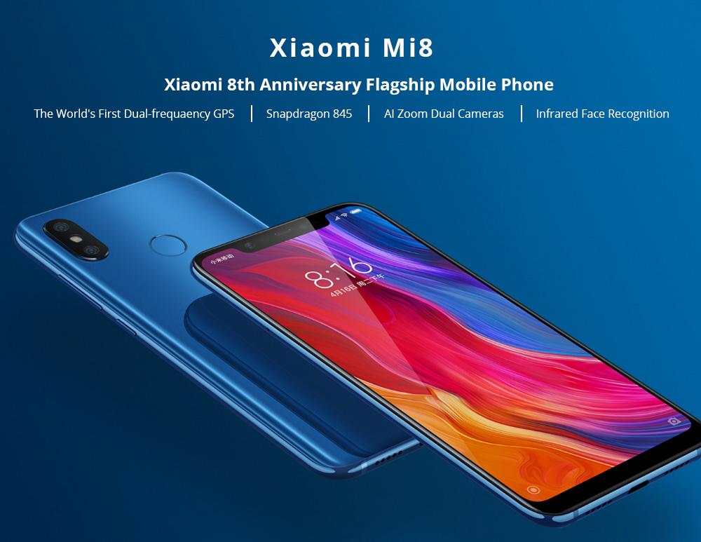 Xiaomi Mi8 6.21 Inch 4G LTE Smartphone Snapdragon 845 6GB 128GB -White