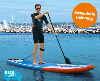 Aldi-Süd Stand-up Paddle Board - SUP - für 369€ inkl. Lieferung - ab 16.07. - inkl. Paddel, Rucksack, Pumpe