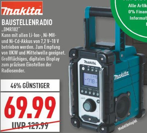 [Lokal Gelsenkirchen Marktkauf evtl. Rhein-Ruhr] Makita DMR102 Baustellenradio