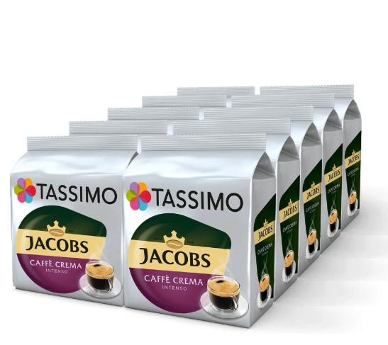 10 x Jacobs Caffé Crema Intenso (160 Tassen) oder Latte Macchiato (80 Tassen) versandkostenfrei