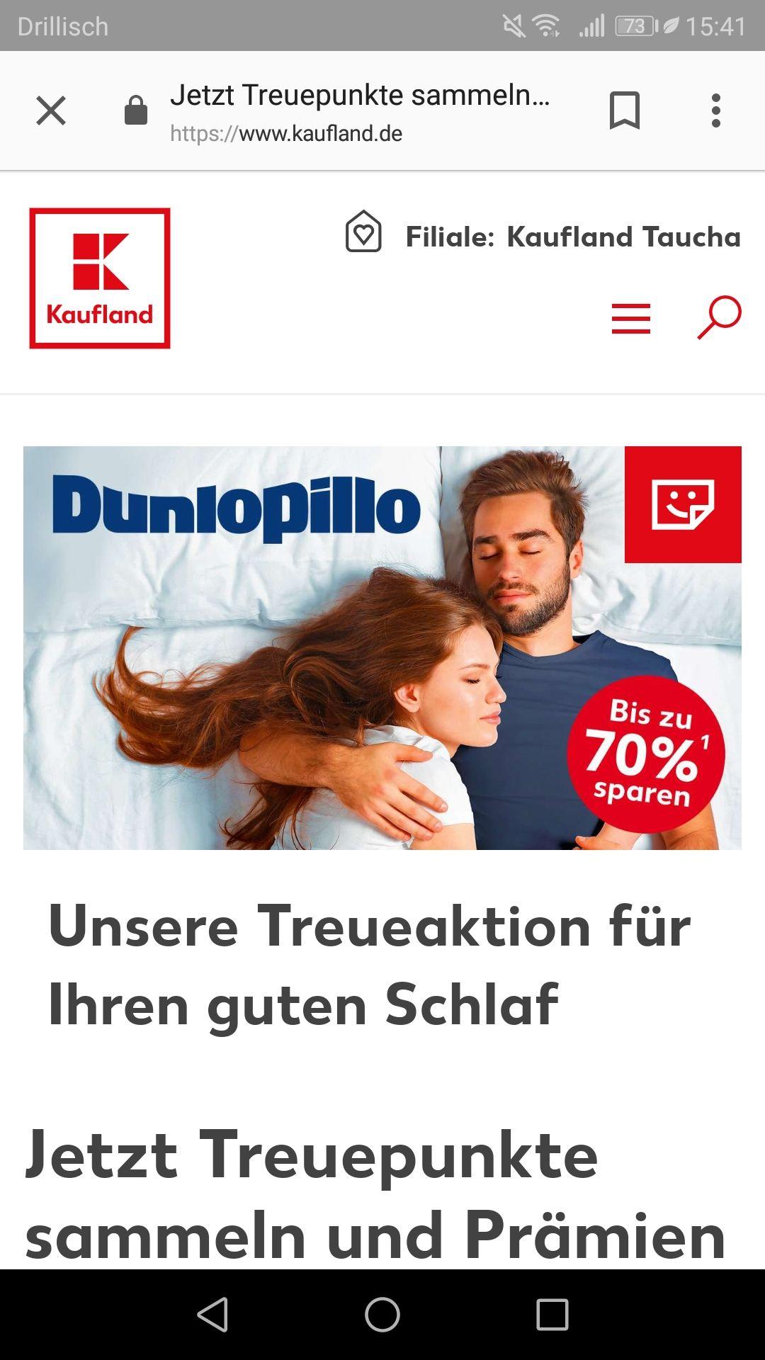 [Kaufland] Treueaktion Dunlopillo - bis zu 70% sparen
