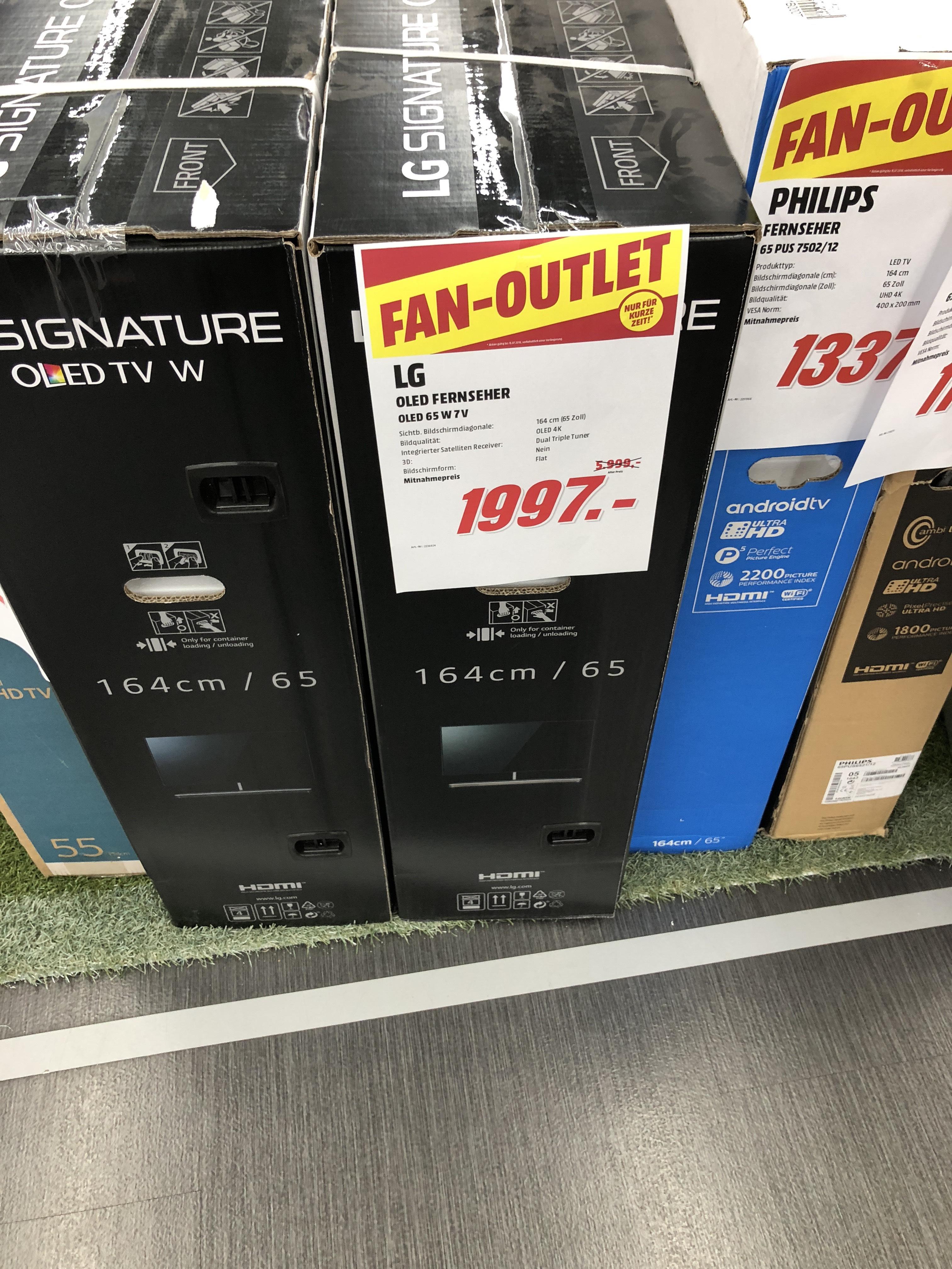 [Media Markt Nürnberg] LG 65W7V OLED Wallpaper TV