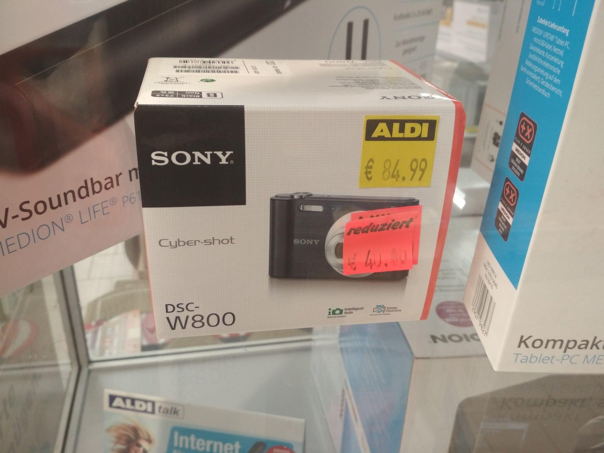 [Lokal Aldi BS] Kompaktkamera Sony DSC-W800 Braunschweig