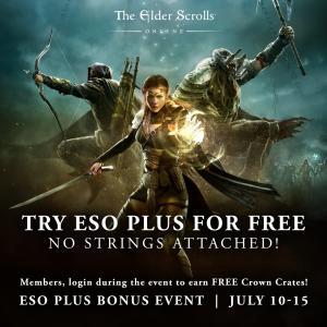 The Elder Scrolls Online Plus kostenlos testen + bis zu 6 Kronen Kisten gratis (PC/PS4/XBox One)