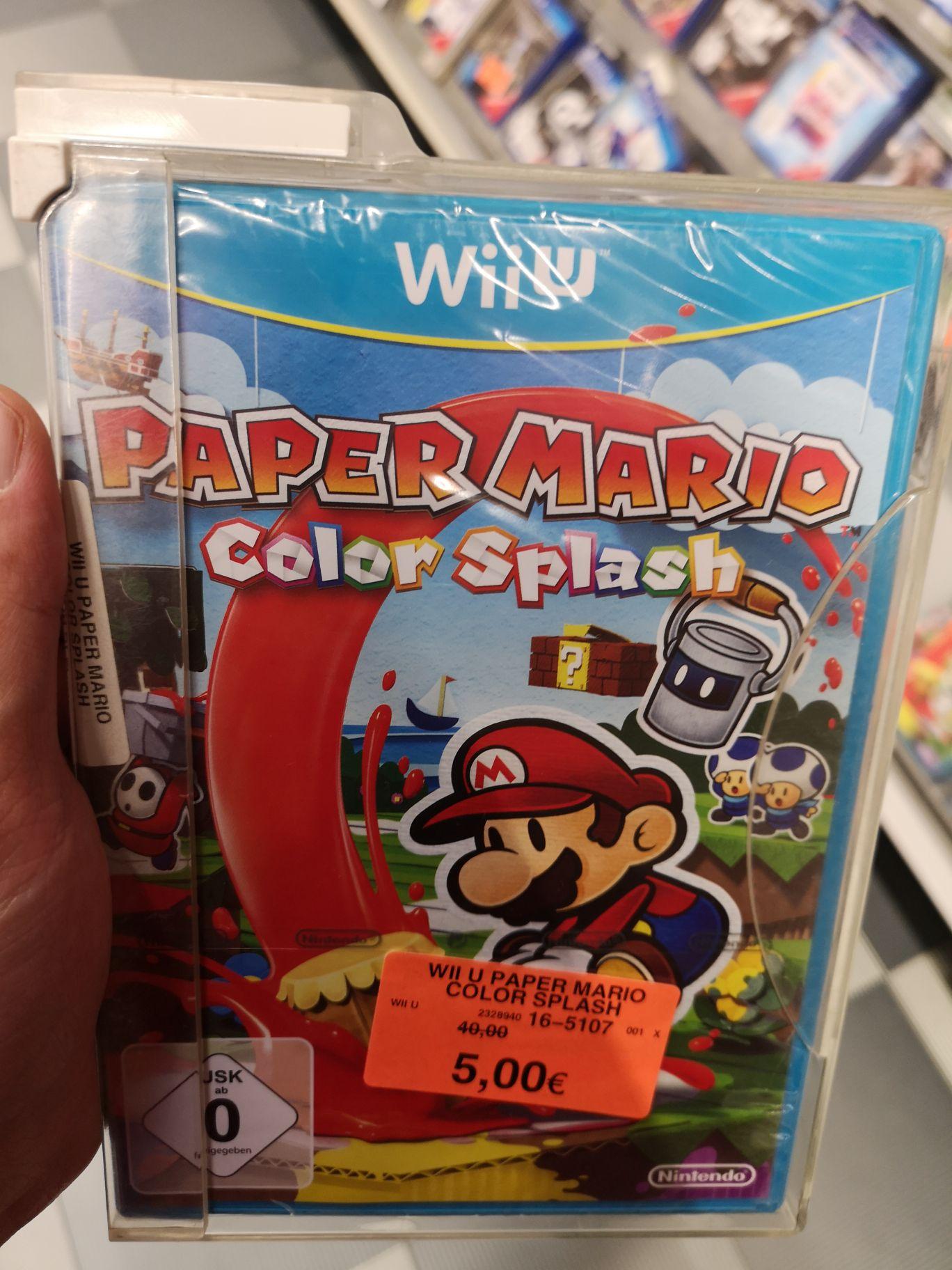Paper Mario Color Splash - Wii U (Lokal Toys'r Us Dortmund Indupark)