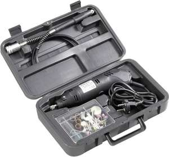 Basetech Multifunktionswerkzeug Mini-Bohrmaschine inkl. Zubehör 80teilig 130W