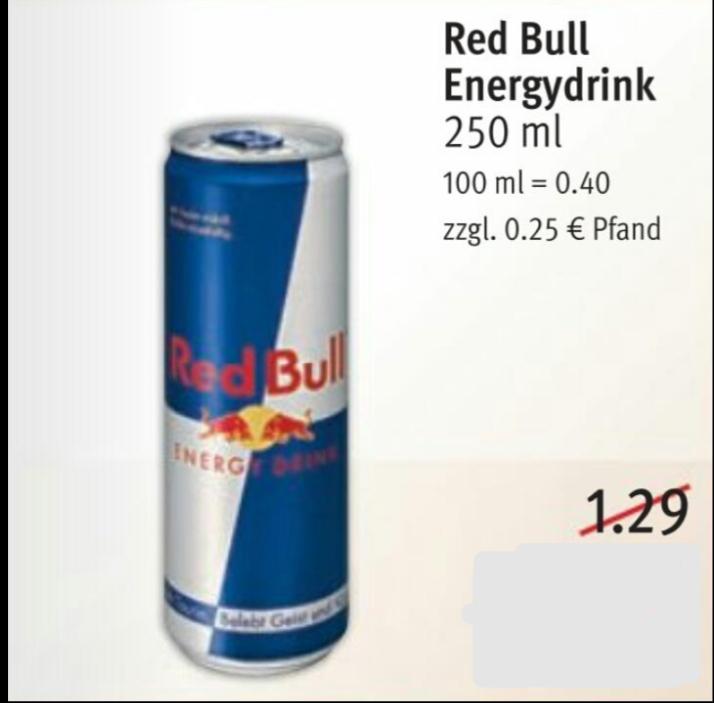 [Rossmann ab 16.07.] Red Bull 250ml Dose für 0,59€ mit Rossmann-App
