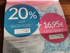 16,95€ Gutschein (effektiv 10€) bei Schwab.de auf das komplette Sortiment ab 30€ MBW