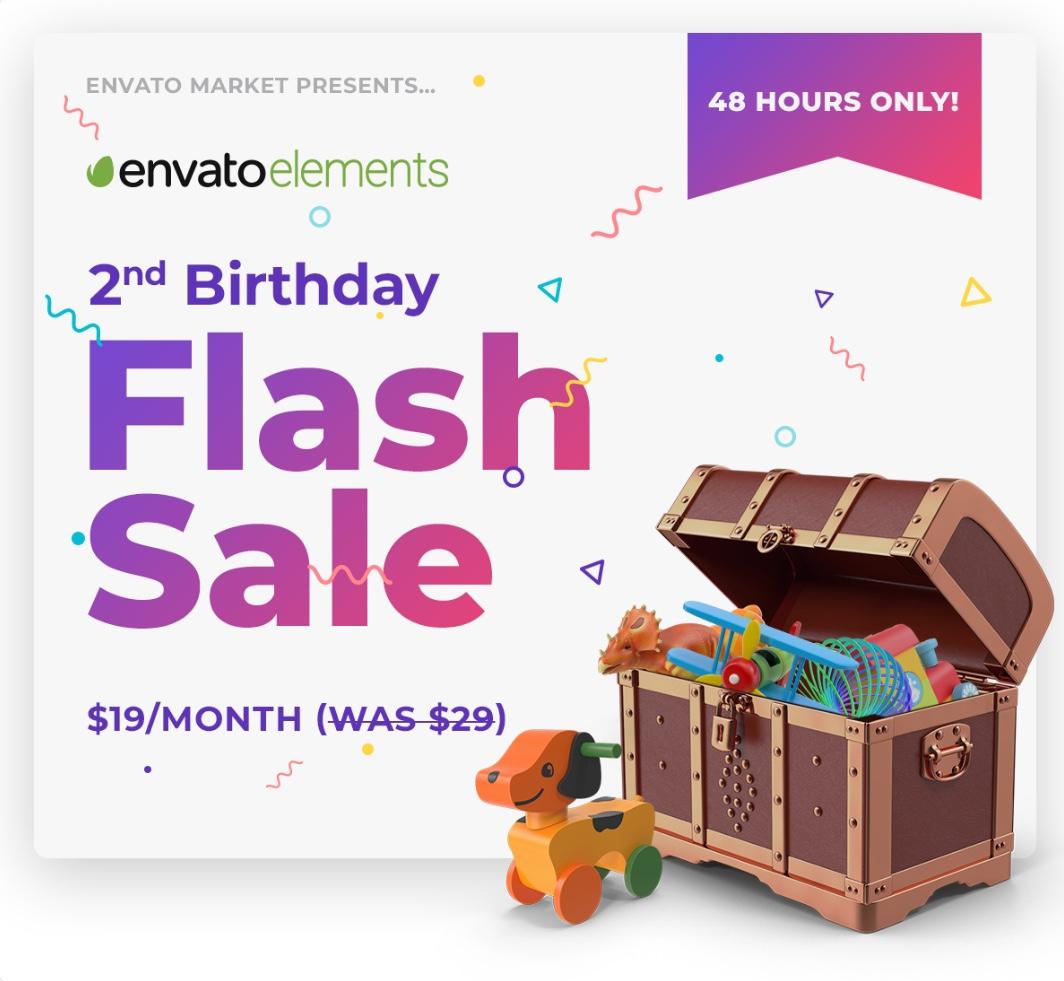 Templates - Flash Sale bei Envato Elements Flatrate im Abo für nur 19,22€ statt 29€