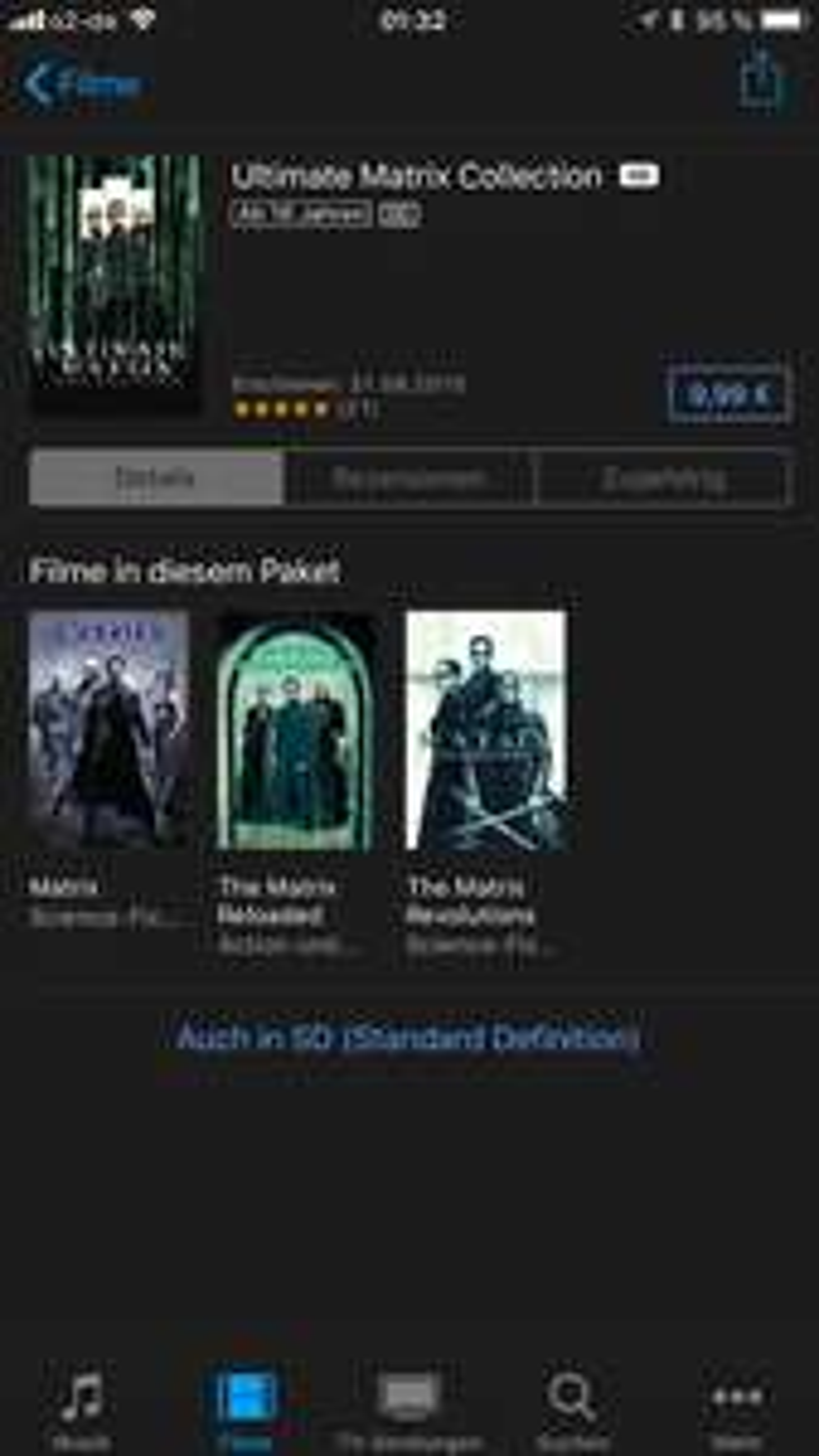 iTunes - Ultimate Matrix Collection (Trilogie)