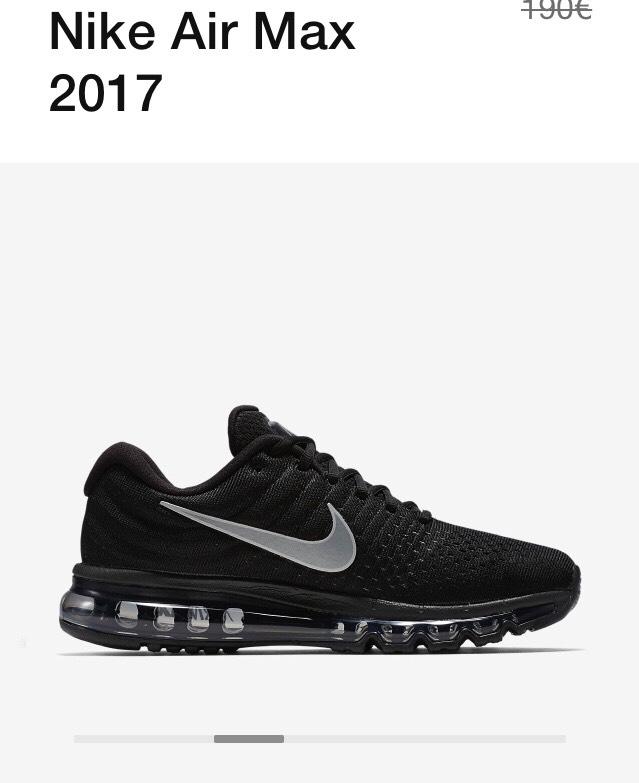 Nike Air Max 2017 schwarz